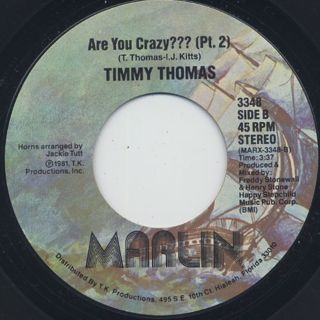 Timmy Thomas / Are You Crazy? back