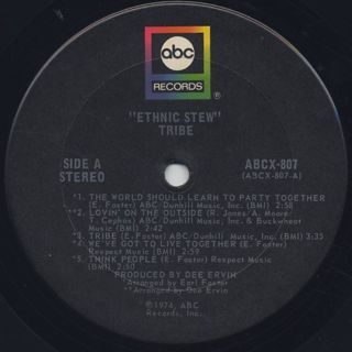 Tribe / Ethnic Stew label