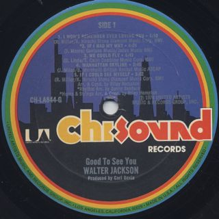 Walter Jackson / Good To See You label