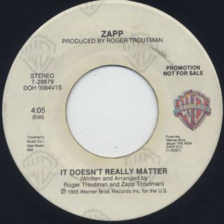 Zapp / It Doesn't Really Matter (45)