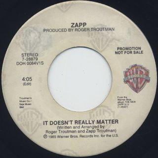 Zapp / It Doesn't Really Matter (45) back