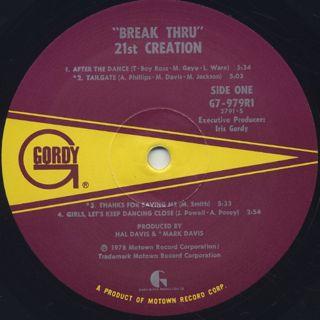 21st Creation / Break Thru label