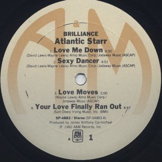 Atlantic Starr / Brilliance label