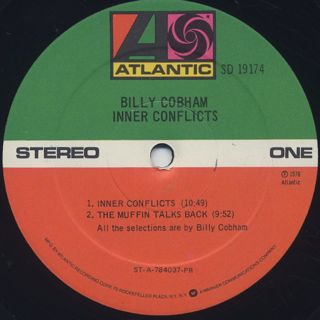 Billy Cobham / Inner Conflicts label