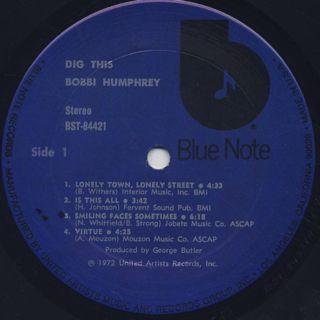 Bobbi Humphrey / Dig This label