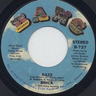 Brick / Dazz c/w Southern Sunset ②