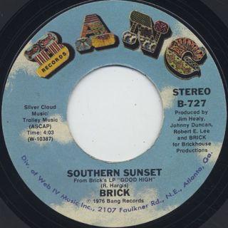 Brick / Dazz c/w Southern Sunset ② back