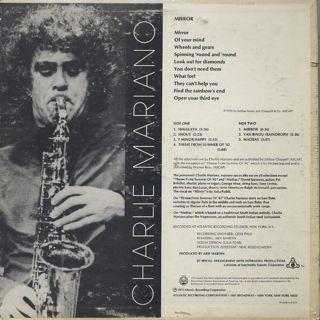 Charlie Mariano / Mirror back