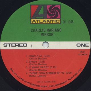 Charlie Mariano / Mirror label