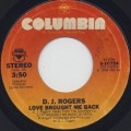 D.J. Rogers / Love Brought Me Back (45)