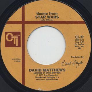 David Matthews / Theme From Star Wars ①
