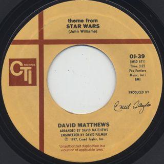 David Matthews / Theme From Star Wars ②