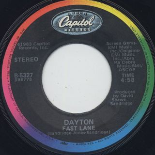 Dayton / The Sound Of Music c/w Fast Lane back