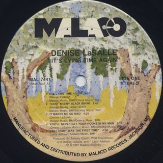 Denise LaSalle / It's Lying Time Again label
