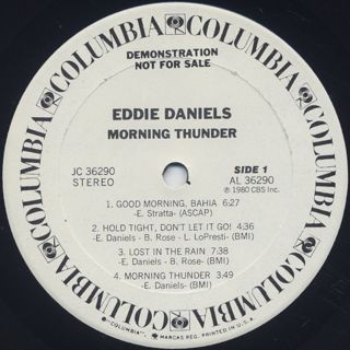 Eddie Daniels / Morning Thunder label