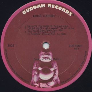 Eddie Harris / Sculpture label