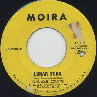 Fabulous Counts / Get Down People c/w Lunar Funk back