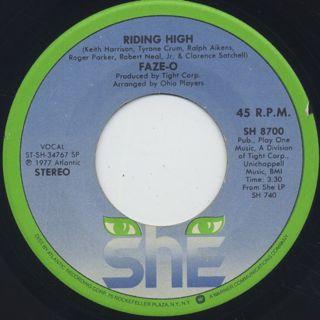Faze-O / Riding High c/w True Love ②