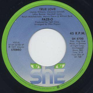 Faze-O / Riding High c/w True Love ② back