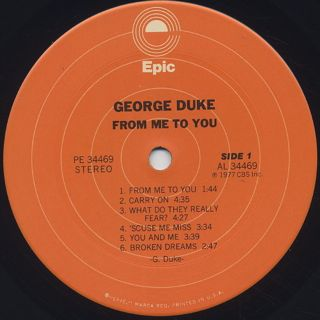 George Duke / From Me To You label