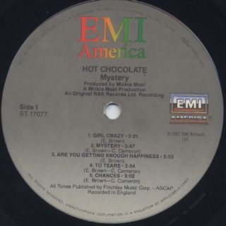 Hot Chocolate / Mystery label