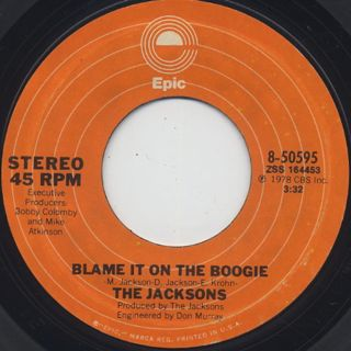 Jacksons / Blame It On The Boogie ①