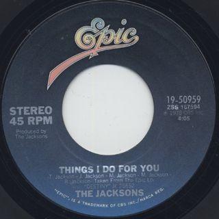 Jacksons / Heartbreak Hotel c/w Things I Do For You back