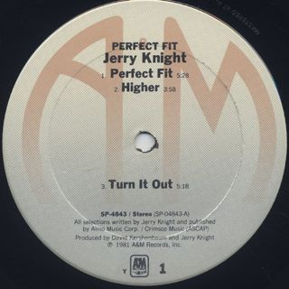 Jerry Knight / Perfect Fit label