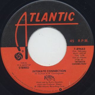 Kleeer / Intimate Connection c/w Tonight ①