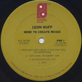 Leon Huff / Here To Create Music label