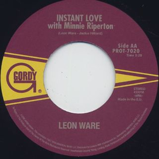 Leon Ware / I Wanna Be Where You Are c/w Instant Love label