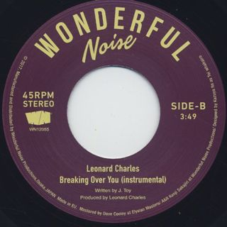 Leonard Charles / Breaking Over You back