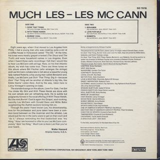 Les McCann / Much Les back