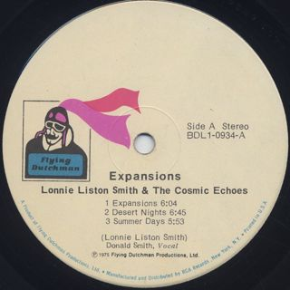 Lonnie Liston Smith & The Cosmic Echoes / Expansions label