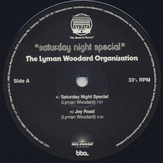 Lyman Woodard Organization / Saturday Night Special (2LP) label