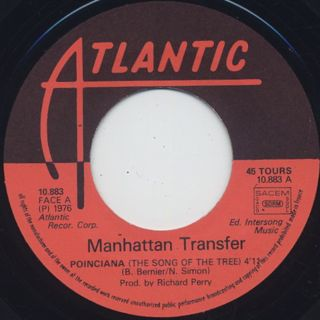 Manhattan Transfer / Poinciana (The Song Of Three) label