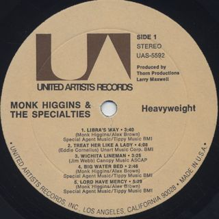 Monk Higgins / Heavyweight label