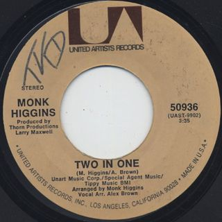 Monk Higgins / Treat Her Like A Lady c/w Two In One back
