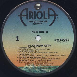 New Birth / Platinum City label