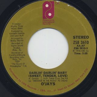 O'Jays / Darlin' Darlin' Baby(Sweet, Tender, Love)