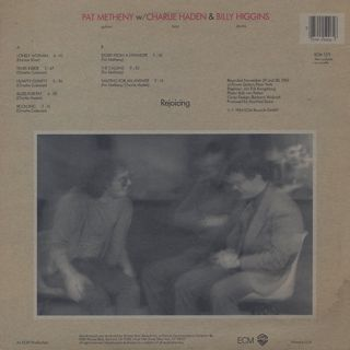 Pat Metheny w/ Charlie Haden & Billy Higgins / Rejoicing back