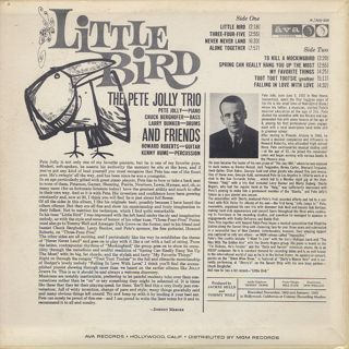 Pete Jolly Trio And Friends / Little Bird back