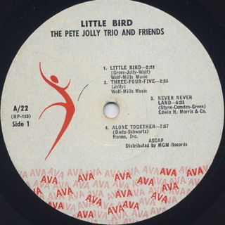 Pete Jolly Trio And Friends / Little Bird label