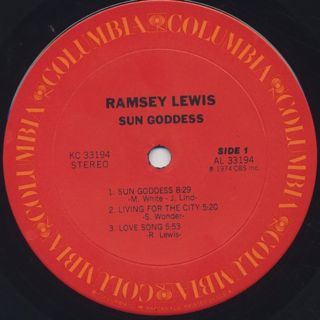 Ramsey Lewis / Sun Goddess label