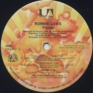 Ronnie Laws / Flame label