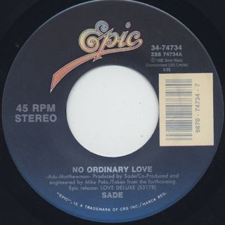 Sade / No Ordinary Love c/w Paradise (Remix) back