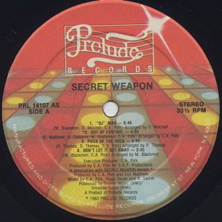 Secret Weapon / S.T. label
