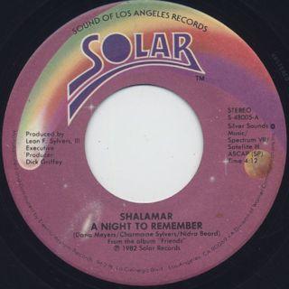 Shalamar / A NIght To Remember (45) ①