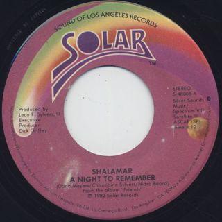 Shalamar / A NIght To Remember (45) ②