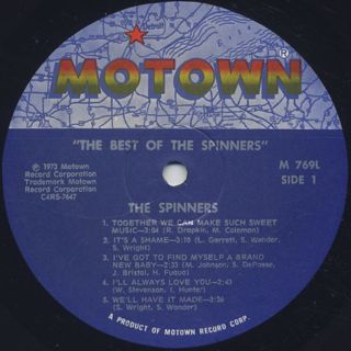 Spinners / The Best Of Spinners label